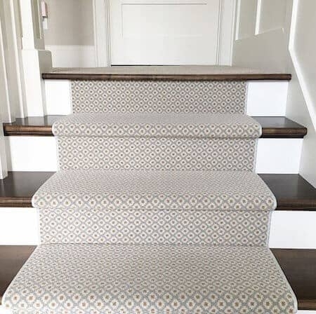 How To Choose And Lay A Stair Runner An Overview Caroline On Design | Stairs With Carpet In The Middle | Runner Corner | Laminate | Contemporary | Run On Stair | Marble