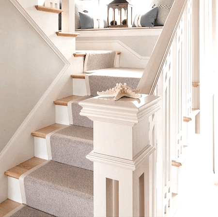 How To Choose And Lay A Stair Runner An Overview Caroline On Design   Cheap Carpet Runners For Stairs   Wooden Stairs   Stair Railing   Hallway Carpet   Staircase Remodel   Painted Stairs