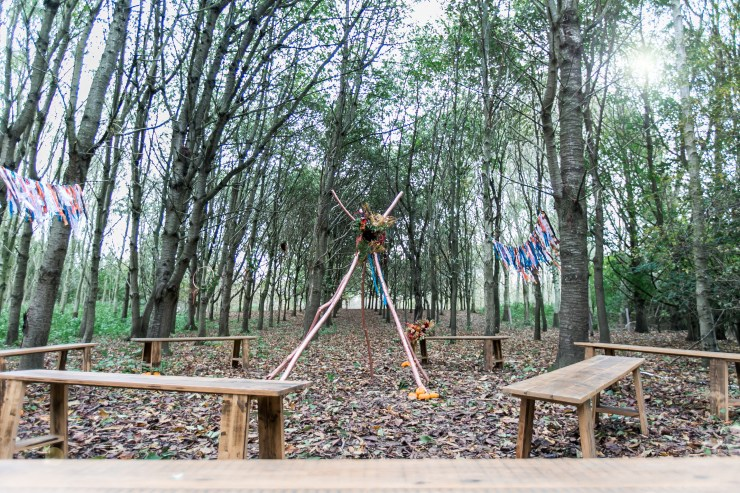 'wild woodland wedding venue essex', 'boho wedding trends 2018', wedding tipi london'