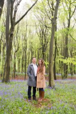 Couple stood together in Harpenden woods