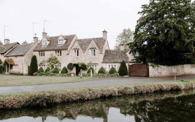 Cotswolds Stone houses next to a small river