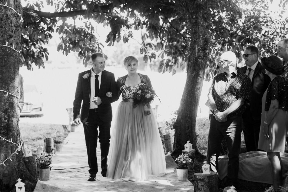 Outdoor civil ceremony in Hampshire