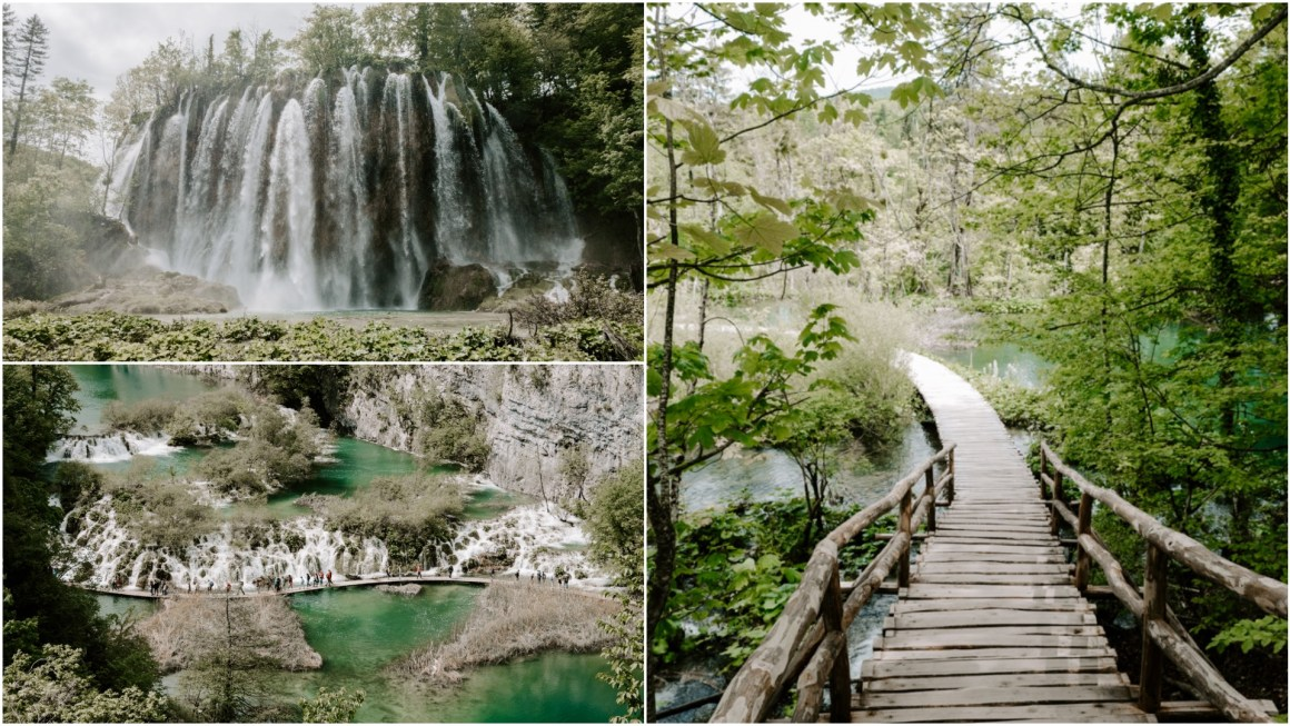 Views of waterfalls at Plitvic lakes