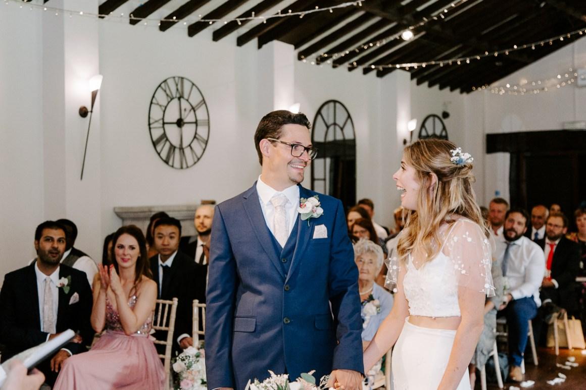 Wedding photographer at Woodhall Manor