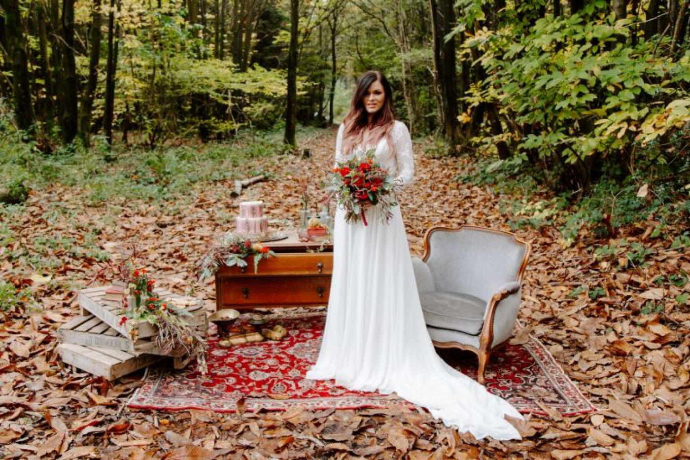 Longton Wood autumn wedding