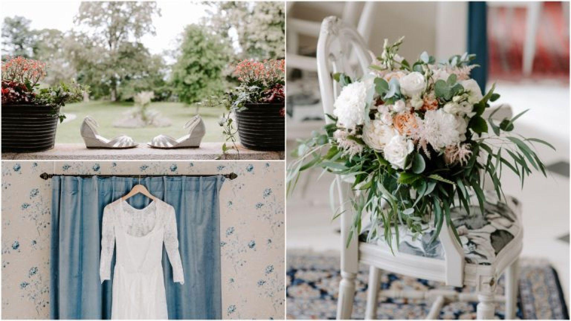 Bridal details at Baldersnas Herrgard wedding venue