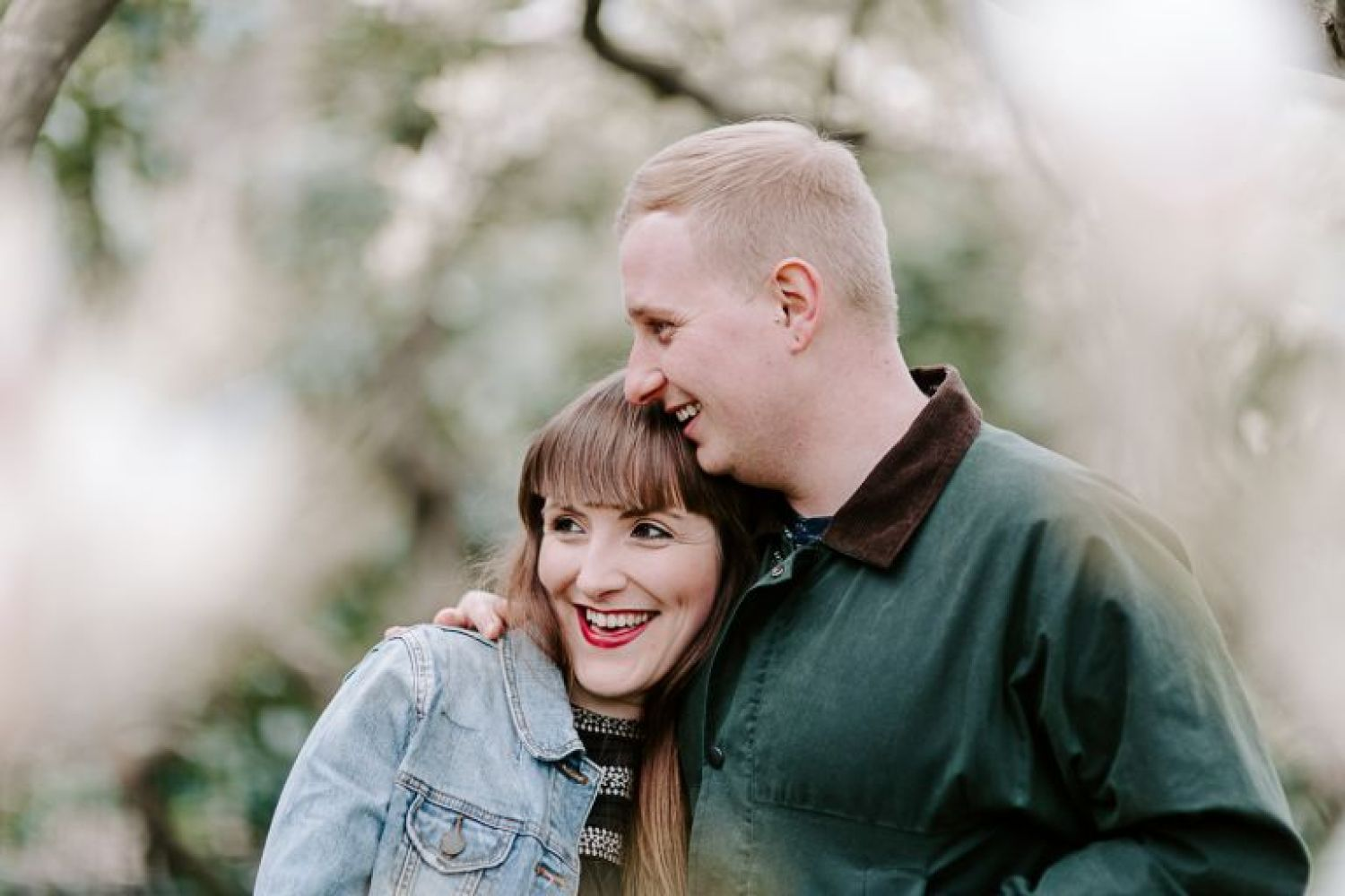 Spring engagement photos in Hampstead Heath