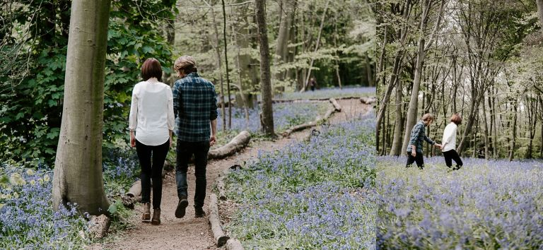 Engagement photography in Wanstead Park