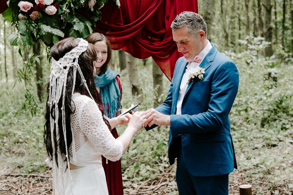 Woodland wedding in Essex