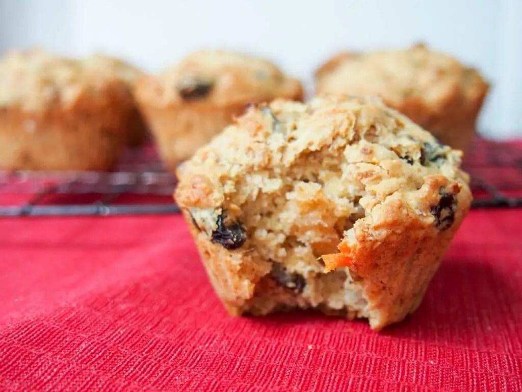 Christmas pudding muffins