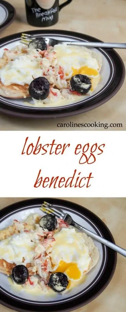 If you're wondering what to make for a special brunch, this delicious lobster eggs Benedict is the perfect choice. Wonderful flavors, almost decadent. Ideal for a Holiday brunch