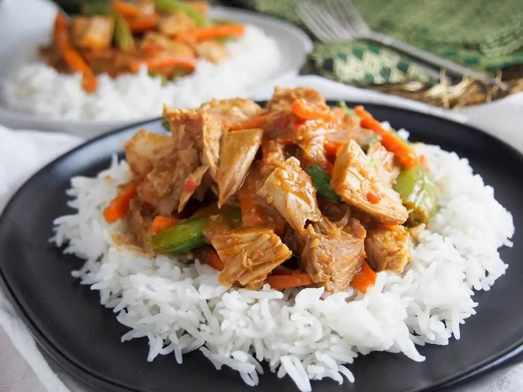 Thai red curry using leftovers