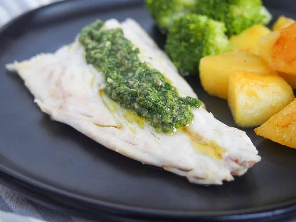 sea bass with salsa verde