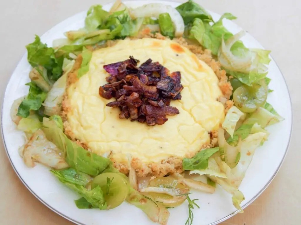 Caramelized onion and goats cheese tartlets