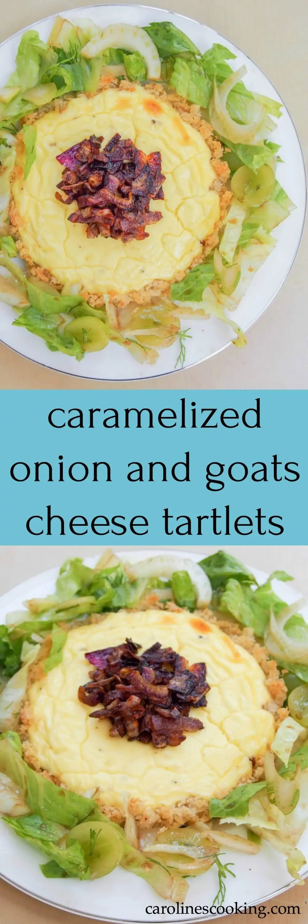 These caramelized onion and goats cheese tartlets are easy to make and so delicious. Cheesy but not heavy with a crispy buttery-crumb base. A perfect lunch.