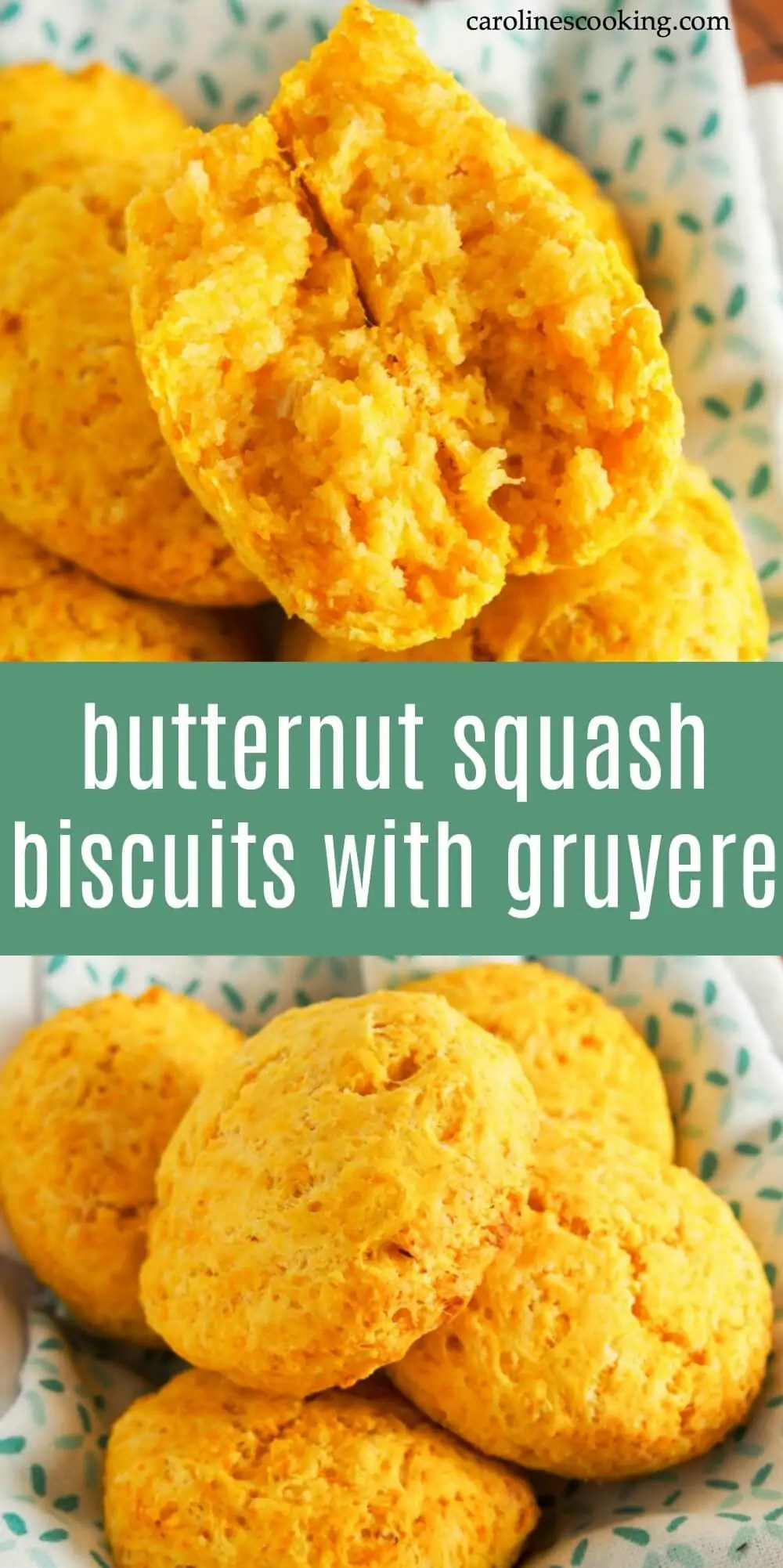 Bright and moist from the squash, with a slight cheesiness, these butternut squash biscuits are quick, easy to make and versatile. Try them alongside a main meal, as a snack or why not fill them as part of lunch. #biscuit #butternutsquash #side