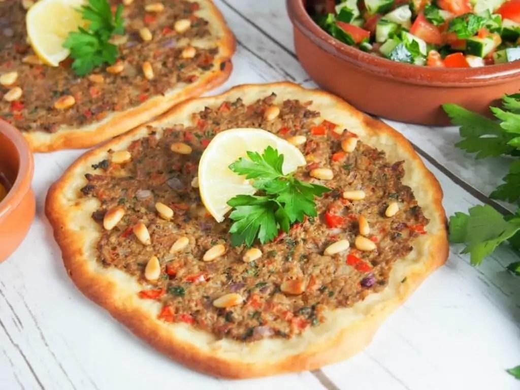 Lahmacun - Turkish flatbread