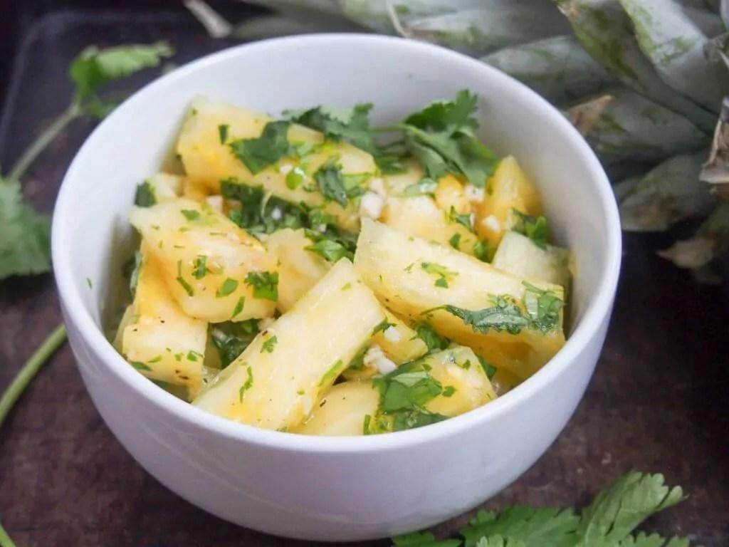 Pineapple chow (Trinidadian spiced fruit)