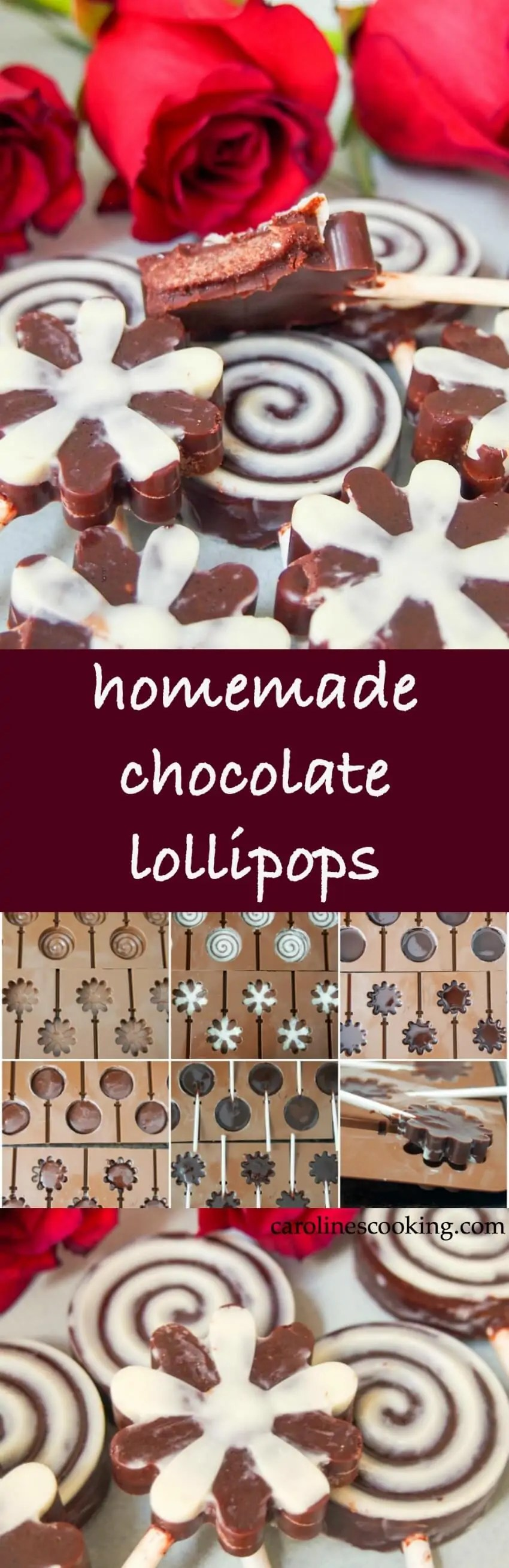 Looking for a healthier but tasty chocolate? These homemade chocolate lollipops are it! With a wonderful rich flavor & soft center, they're easy to make and are the perfect sweet treat for a holiday, special occasion or just because. Paleo, dairy free.