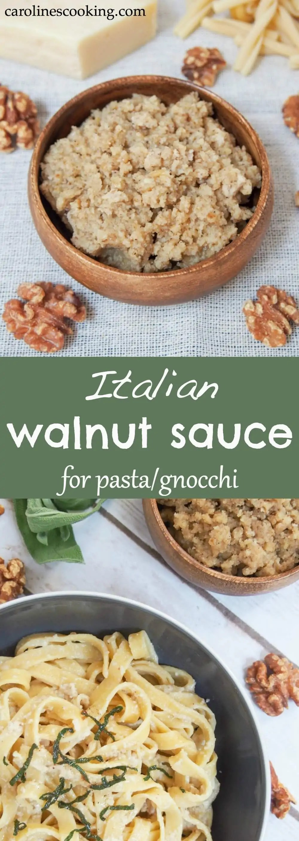 Walnut sauce is a lesser-known Italian sauce for pasta that's easy to make and surprisingly creamy and flavorful given the humble ingredients. A great way to change up pasta night!