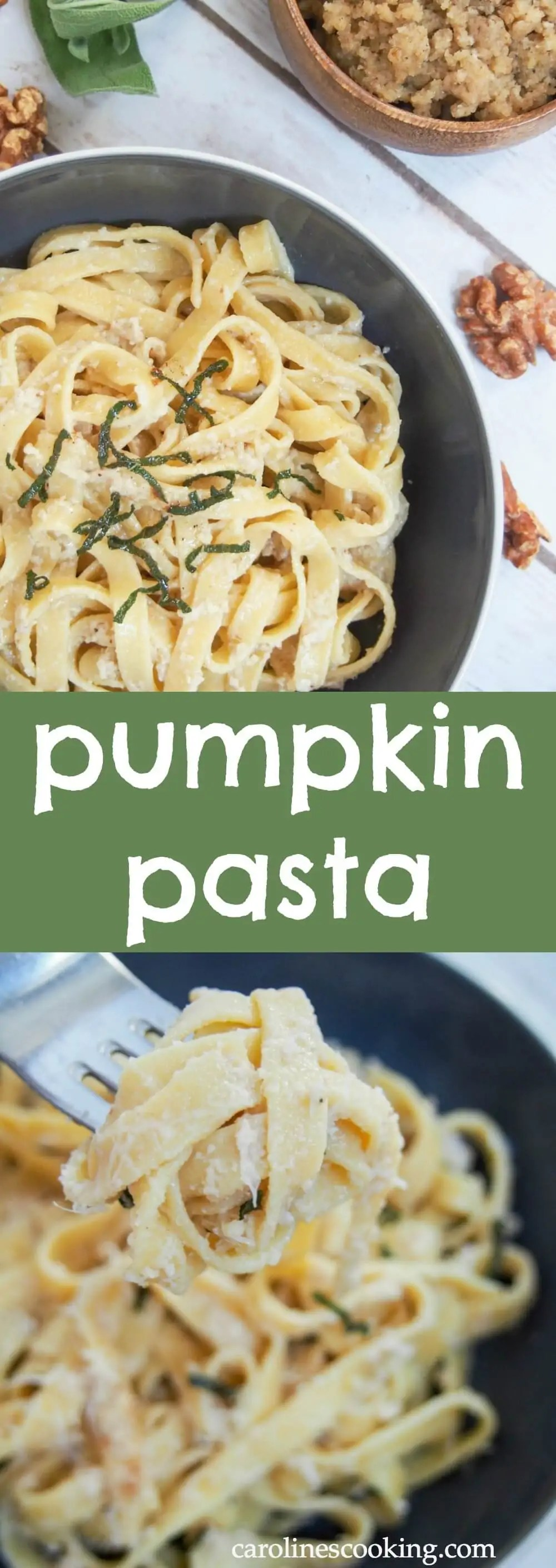 This pumpkin pasta is a delicious way to enjoy a touch of fall in homemade pasta with real pumpkin in the dough. If you're a pasta fan, you'll be blown away at how good it can taste.