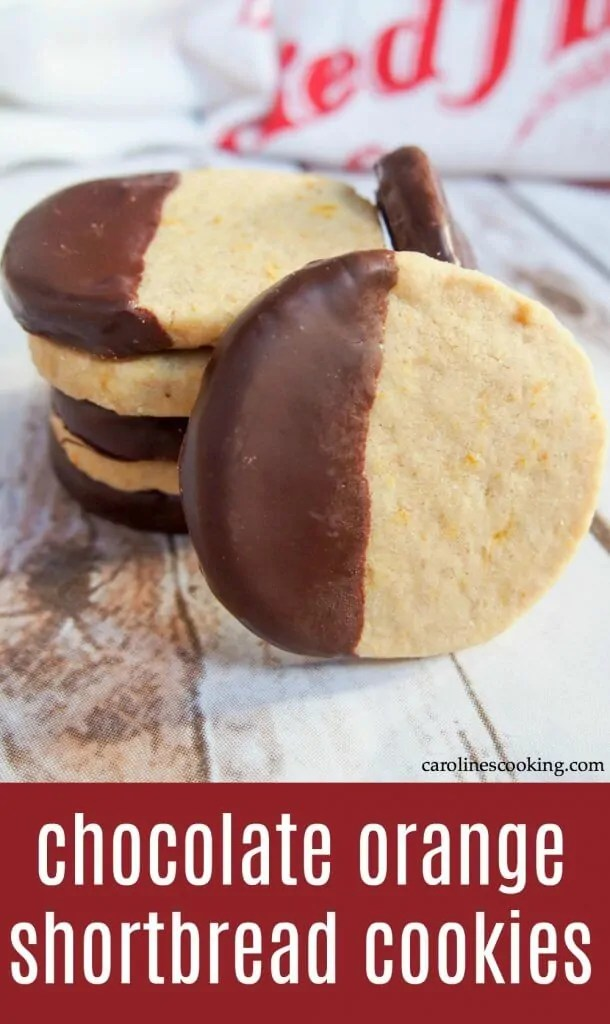 These chocolate orange shortbread cookies are such a family favorite! They melt in your mouth with their delicious, delicate flavor, and the complementary chocolate on top. Easy to make and perfect for gifting, sharing, and enjoying on repeat! #cookie #shortbread #holidaybaking #chocolatedipped
