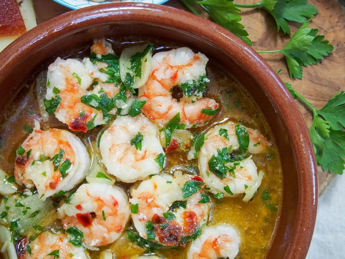 Gambas Al Ajillo Spanish Garlic Shrimp Caroline S Cooking