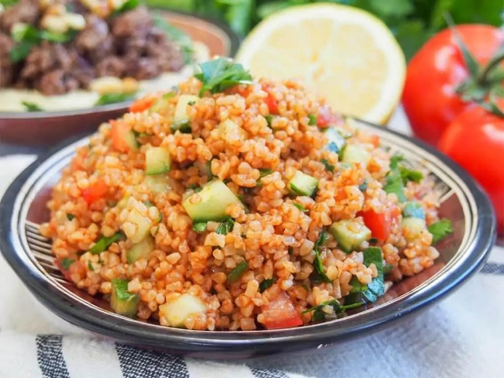 kisir Turkish bulgur salad