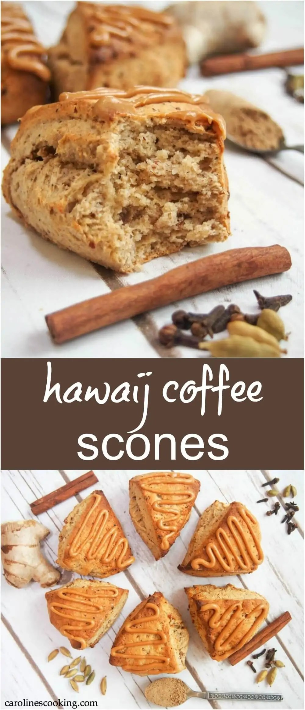 You might not have heard of hawaij spice (I hadn't), but let me just say you'll be wanting these hawaij coffee scones with your next cup of coffee. They're gently spiced, soft and so tasty. They're relatively healthy and so easy to make too! #baking #scones