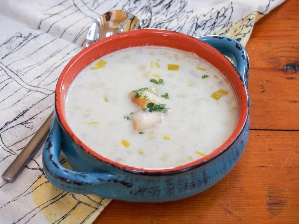 bowl of cullen skink - Scottish smoked haddock chowder