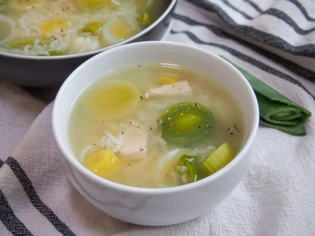 Cock-a-leekie soup bowl