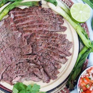 traditional carne asada grilled beef