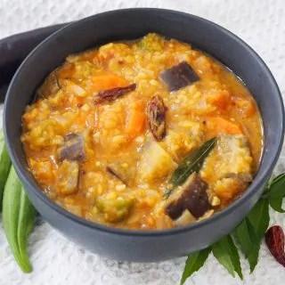 bowl of Kerala style sambar