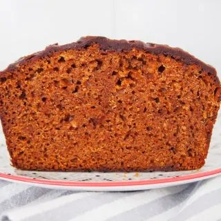 piernik Polish gingerbread cake cut through middle to show inside