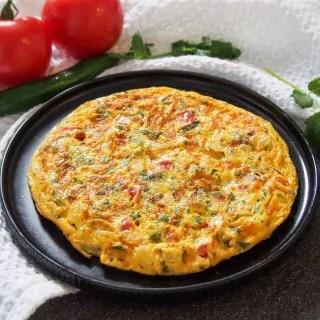 masala omelette on plate