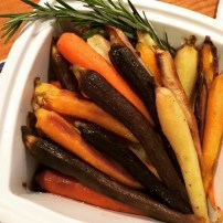 Roasted Tri-Colored Carrots