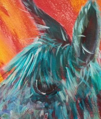 Alpaca painting, llama art, funky colours, framed alpaca painting, farm animal art, funky alpaca painting, colourful art, abstract farm animal wall decor