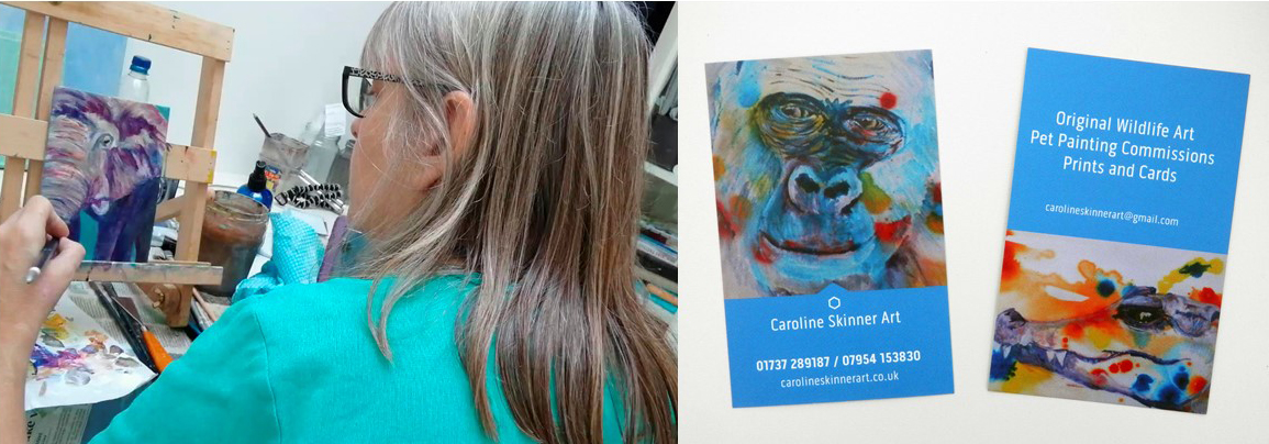 animal art Surrey, wildlife artist