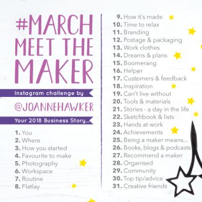 marchmeetthemaker, creative challenge, Instagram