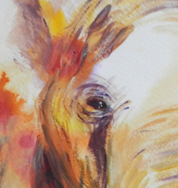 African elephant art print, abstract animal art