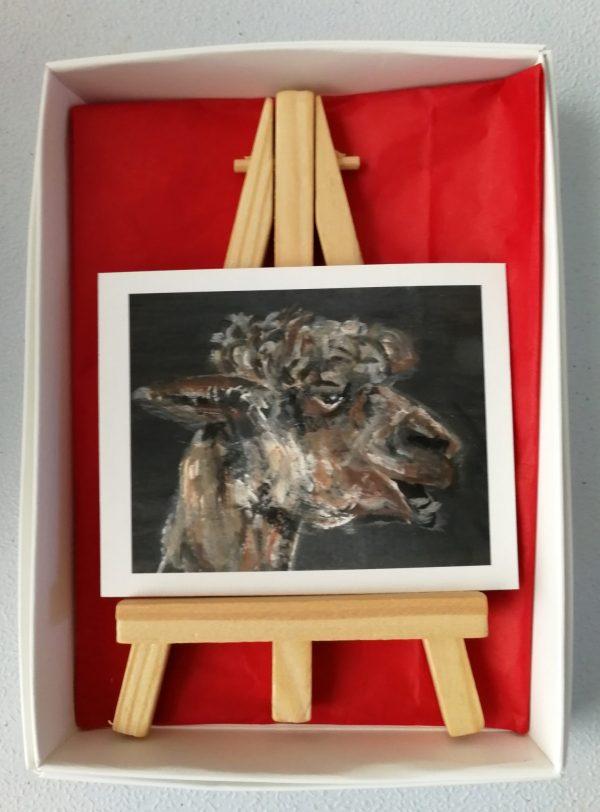 Miniature alpaca art