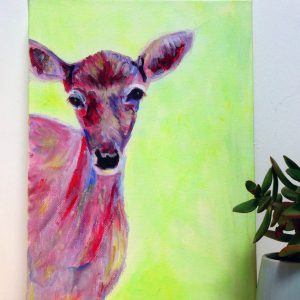 Green deer box canvas