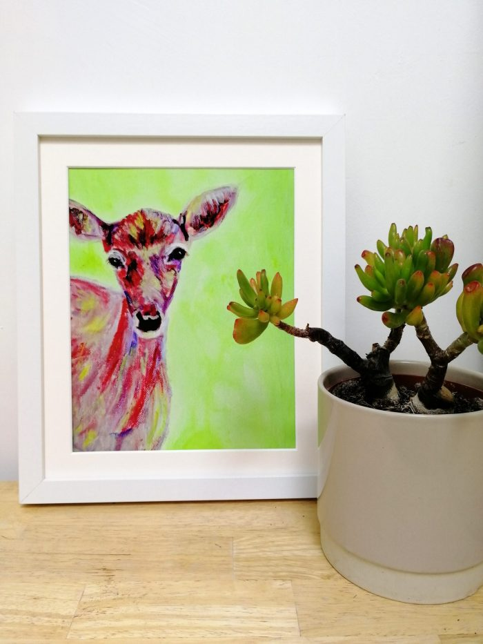 Cute red deer wall decor