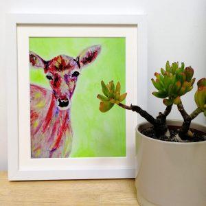 Cute red deer wall decor