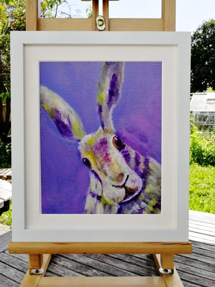 Purple hare art print