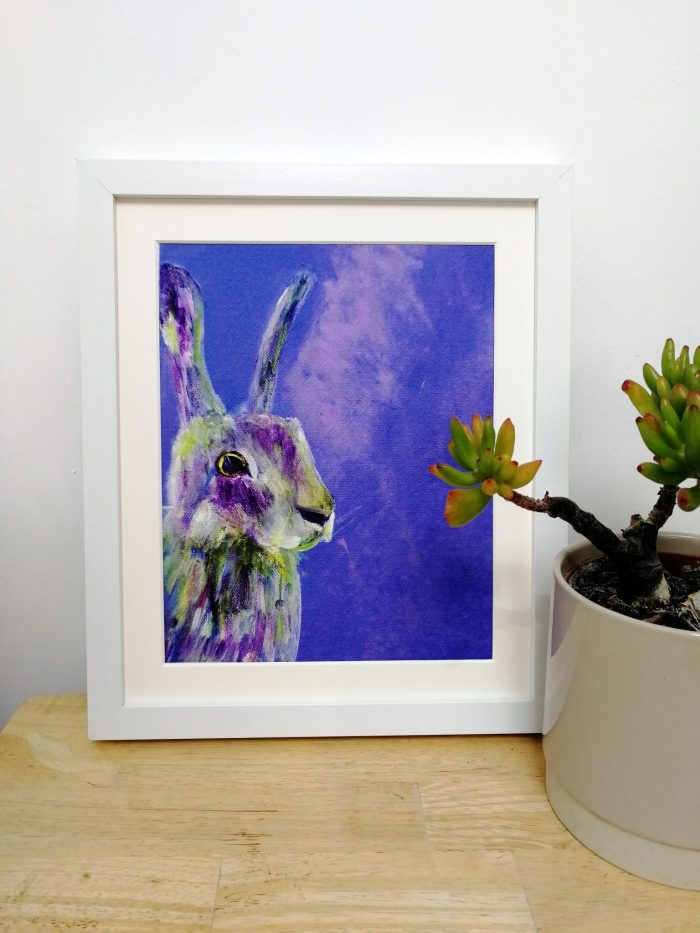 Purple hare giclee art print