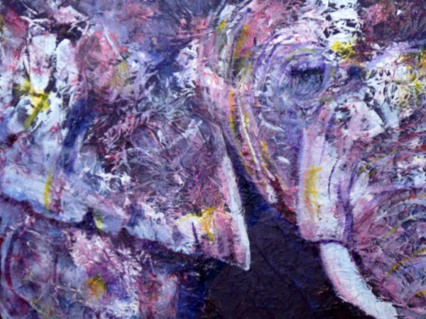 Purple elephanat print
