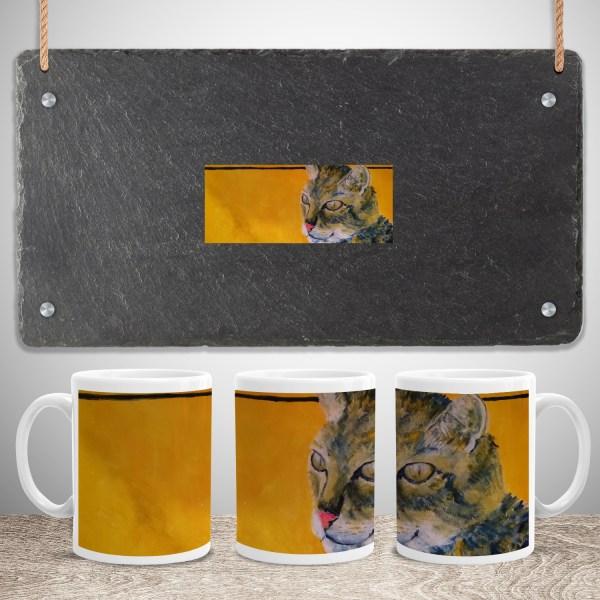 Golden Orange Tabby Cat Mug