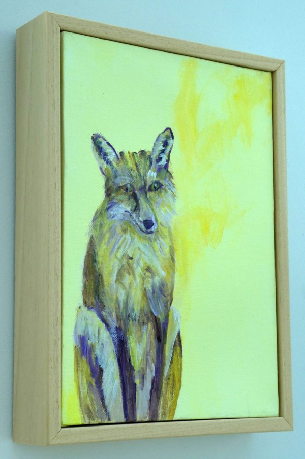 Framed fox wall art