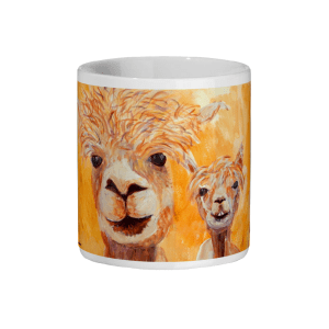 llama mug, ceramic mug, tea drinker gift, animal lover mug, alpaca gift